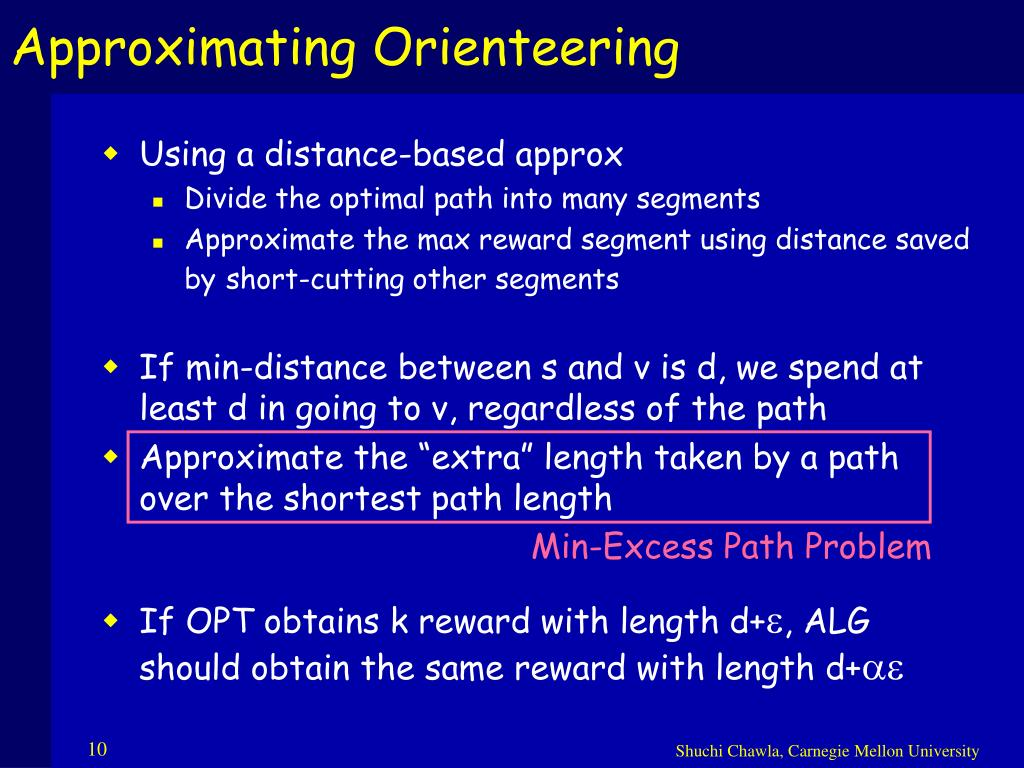 Approximating Orienteering