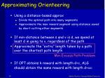 approximating orienteering10