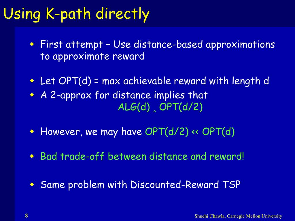 Using K-path directly