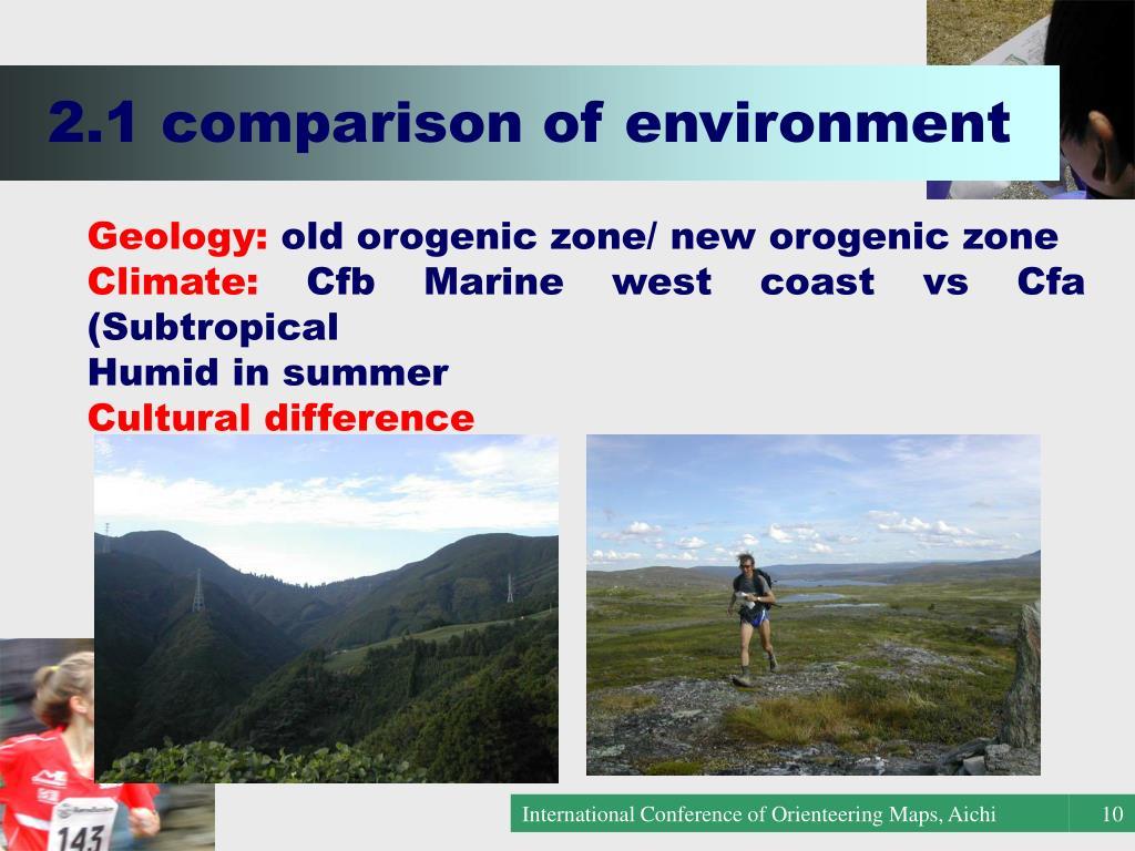 2.1 comparison of environment