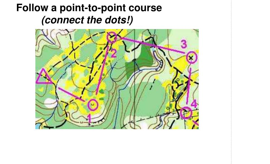 Follow a point-to-point course