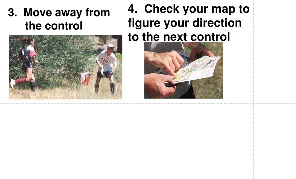4.  Check your map to figure your direction to the next control