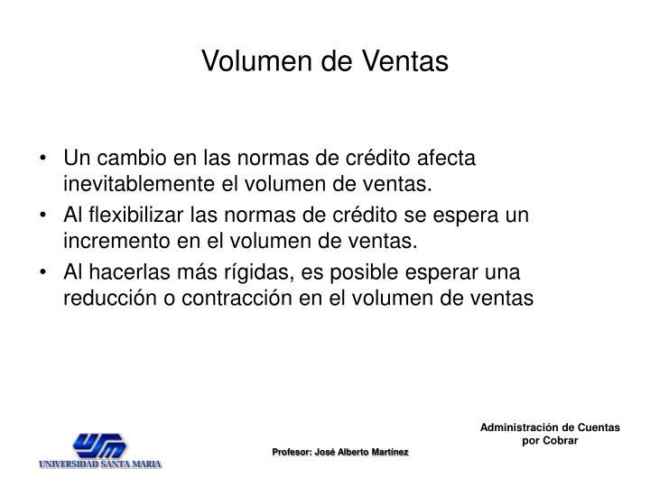 Volumen de Ventas