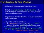 from deadlines to time windows