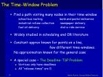 the time window problem