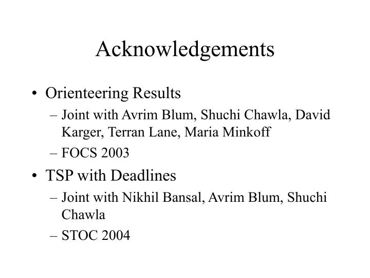Acknowledgements