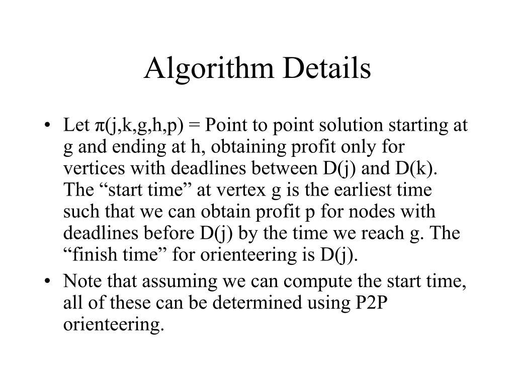 Algorithm Details