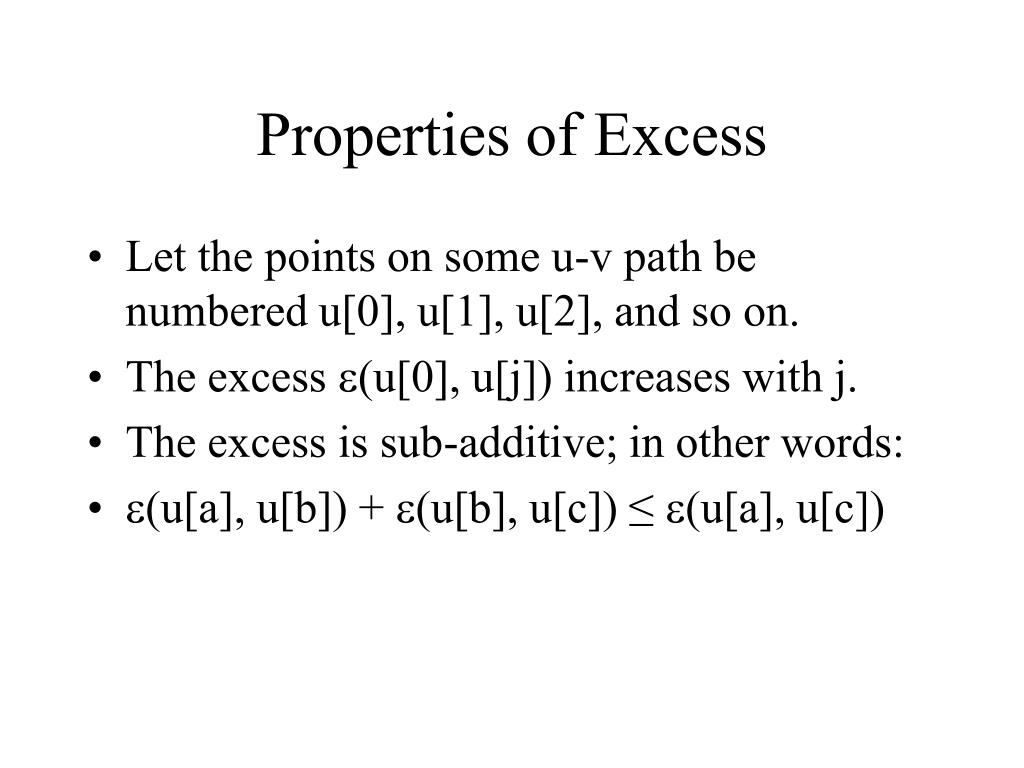 Properties of Excess
