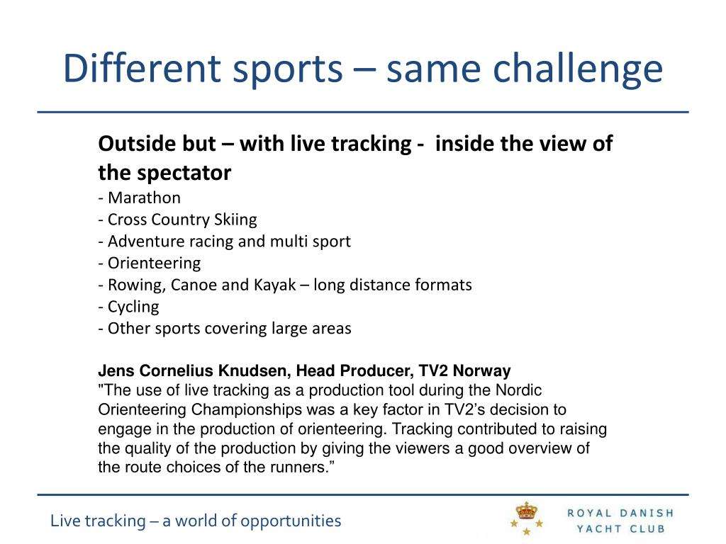 Different sports – same challenge