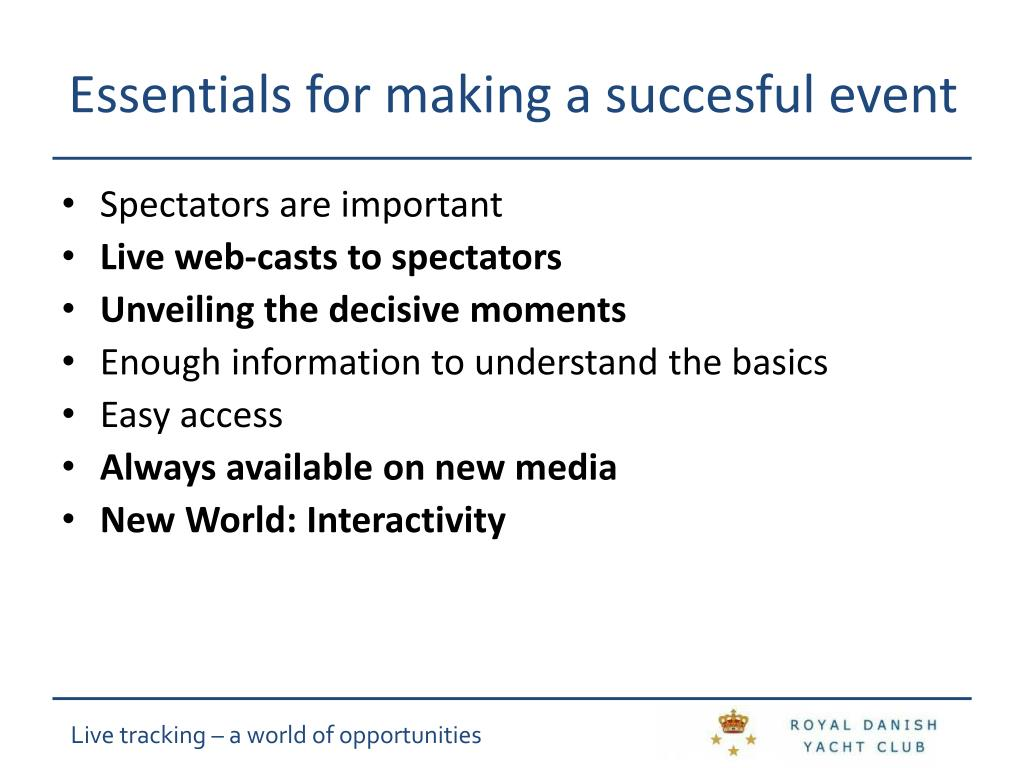 Essentials for making a succesful event
