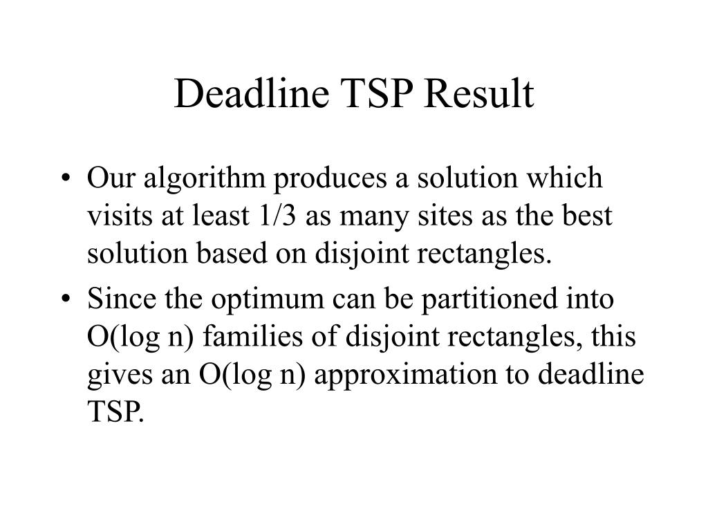 Deadline TSP Result