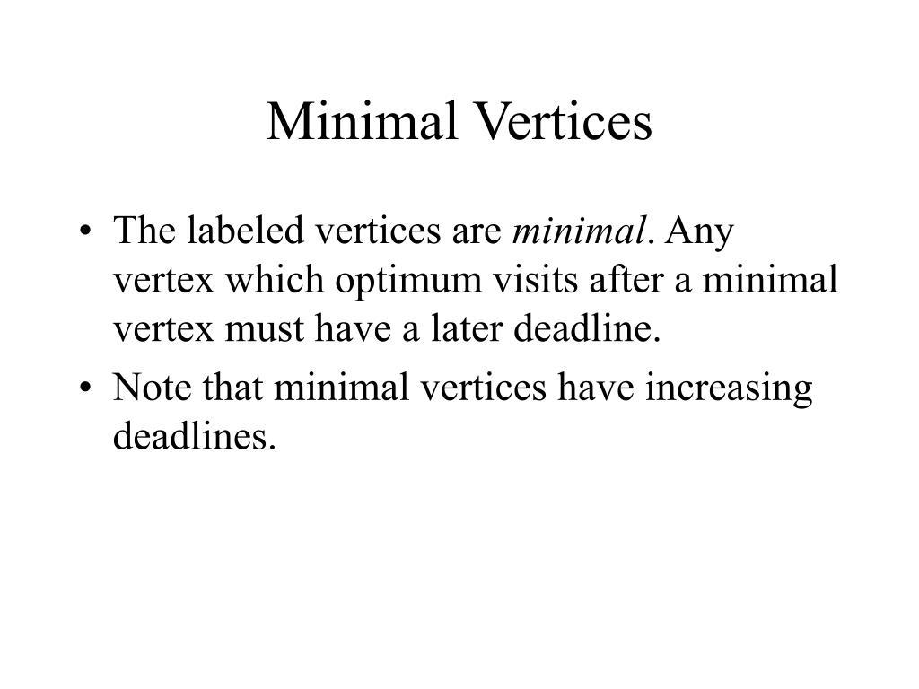 Minimal Vertices