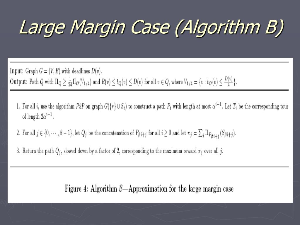 Large Margin Case (Algorithm B)