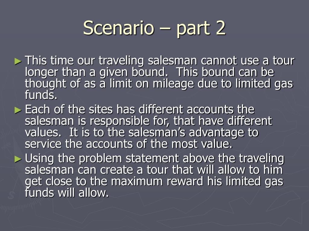 Scenario – part 2