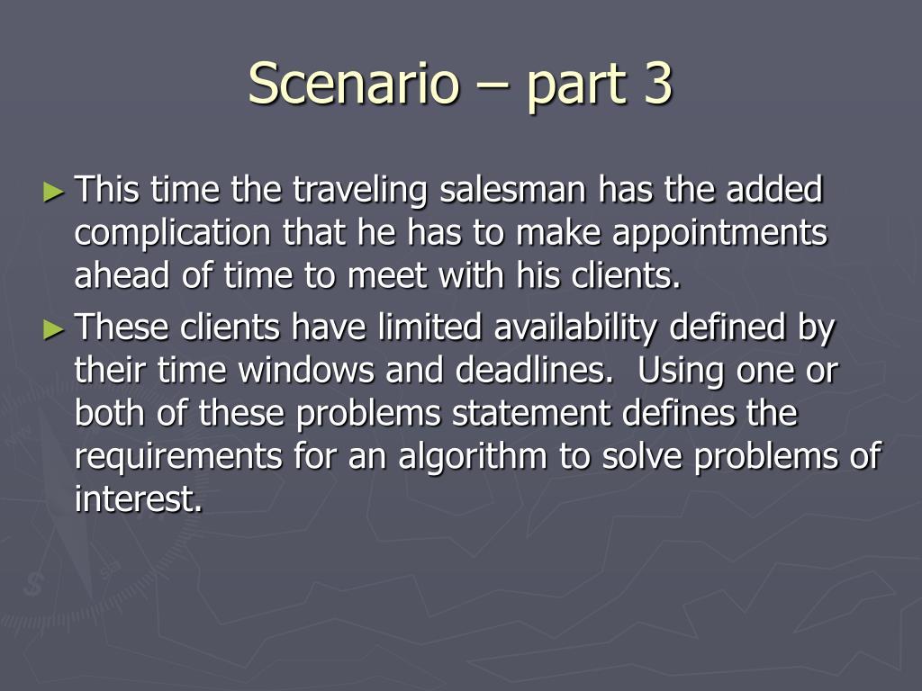 Scenario – part 3