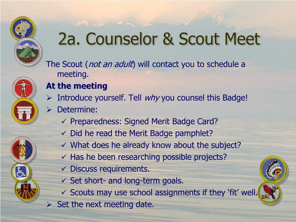 2a. Counselor & Scout Meet