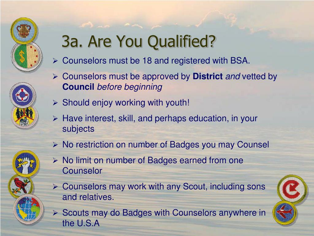 3a. Are You Qualified?