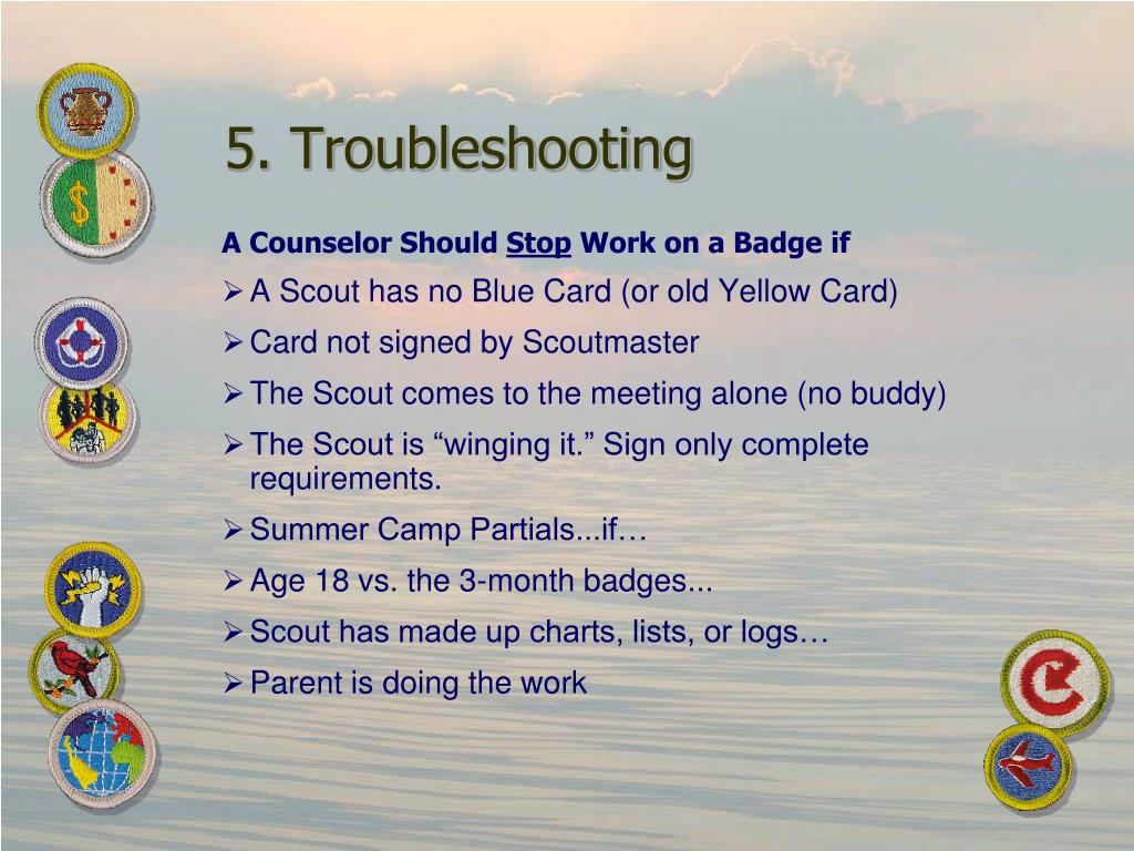 5. Troubleshooting