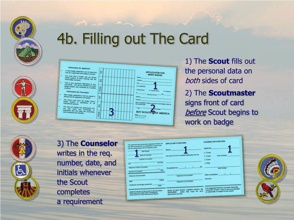 4b. Filling out The Card