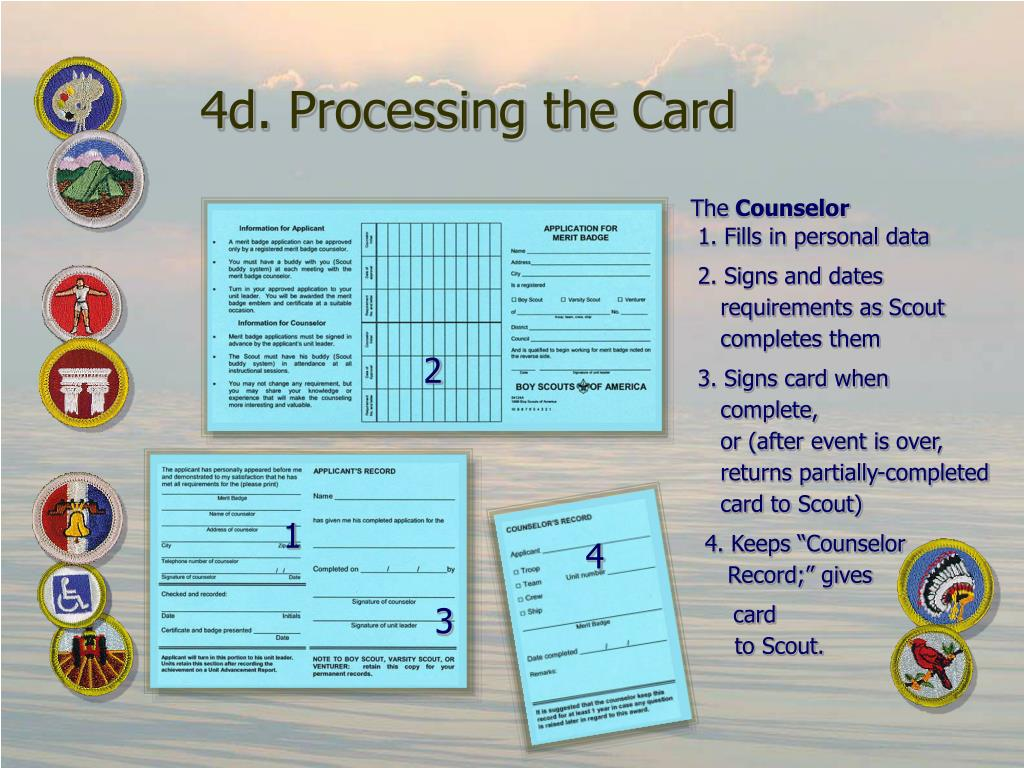4d. Processing the Card