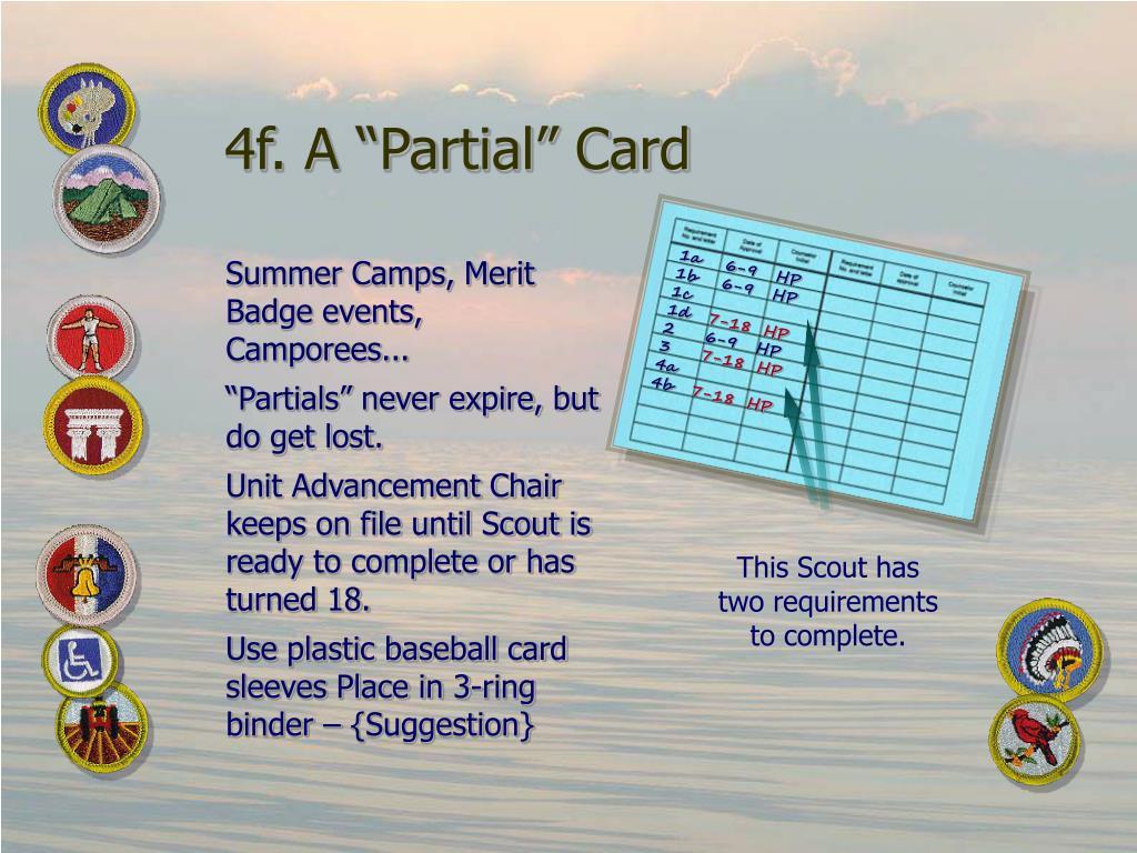 """4f. A """"Partial"""" Card"""