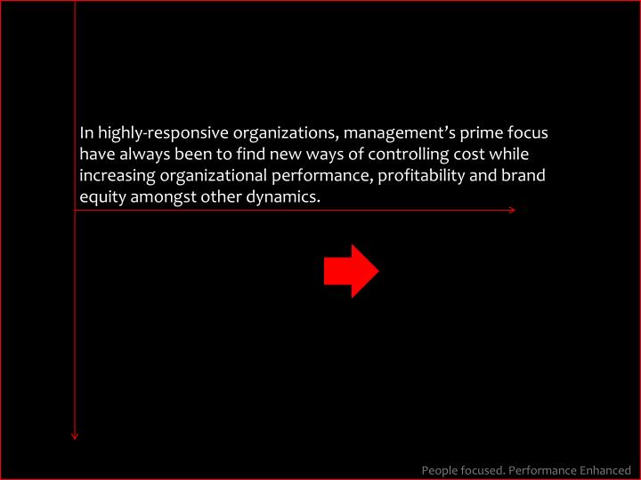 In highly-responsive organizations, management's