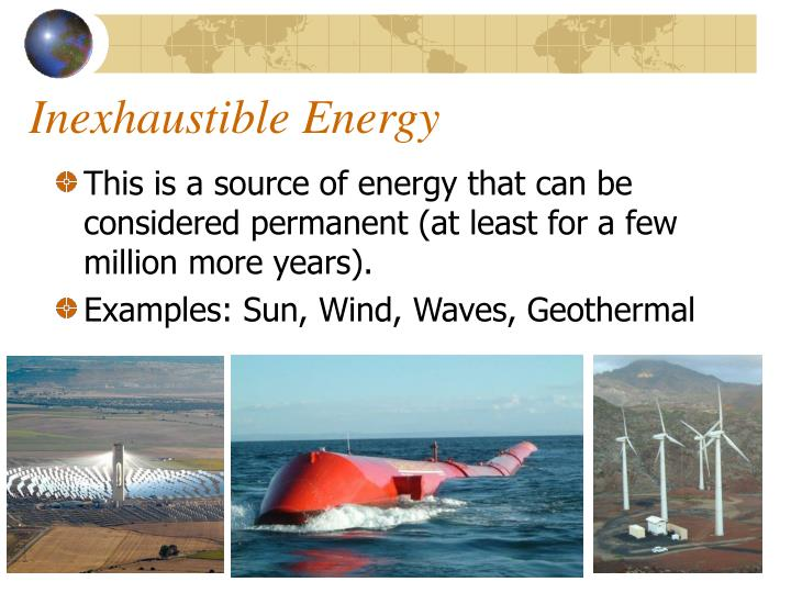Ppt Renewable Amp Inexhaustible Energy Sources Powerpoint