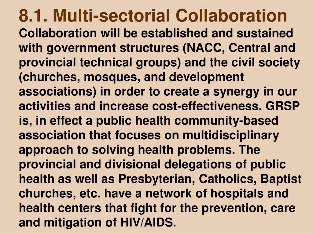 8.1. Multi-sectorial Collaboration