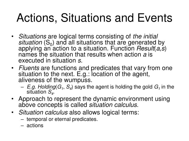 Actions, Situations and Events