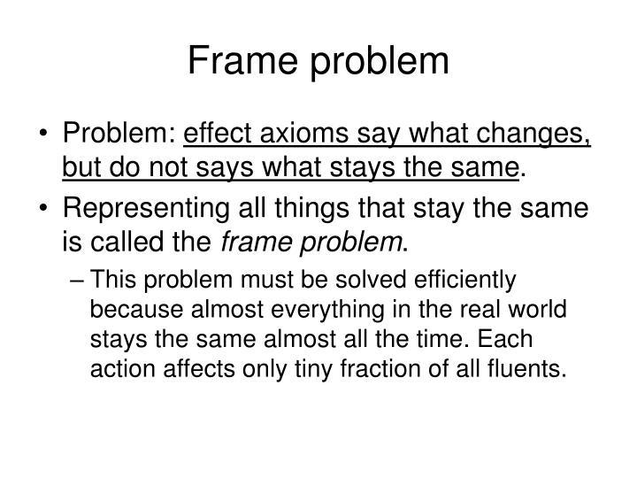 Frame problem