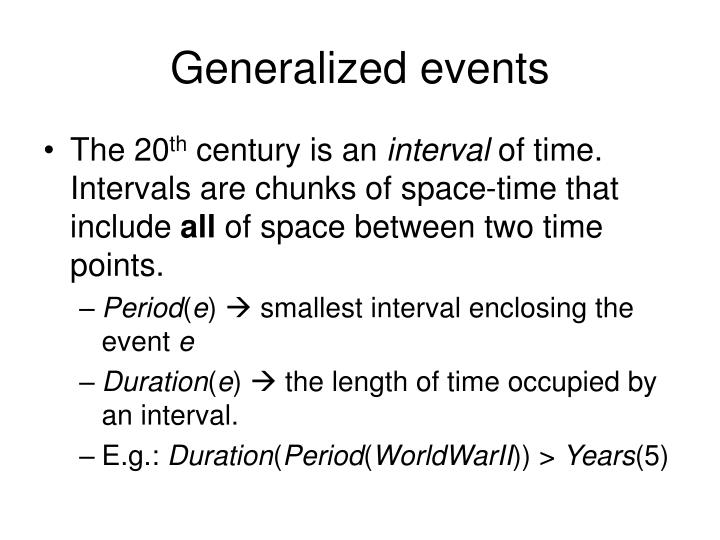 Generalized events
