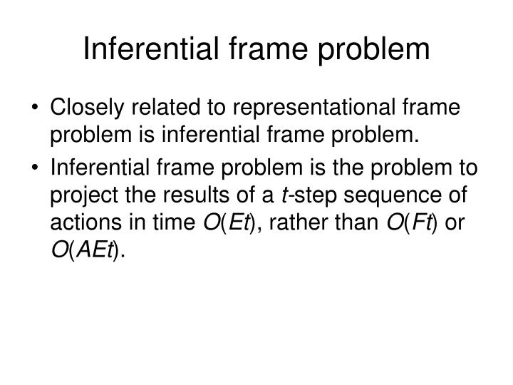 Inferential frame problem
