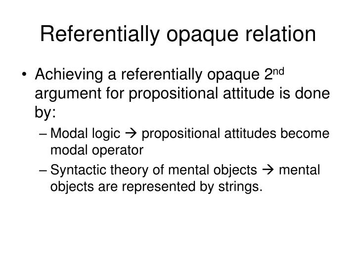 Referentially opaque relation