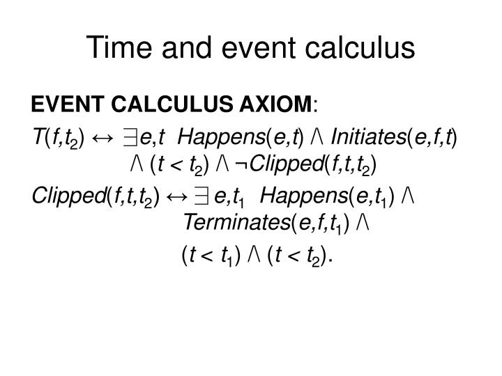Time and event calculus