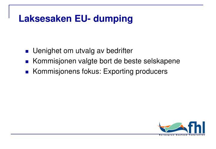 Laksesaken EU- dumping