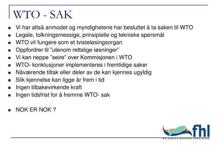 WTO - SAK