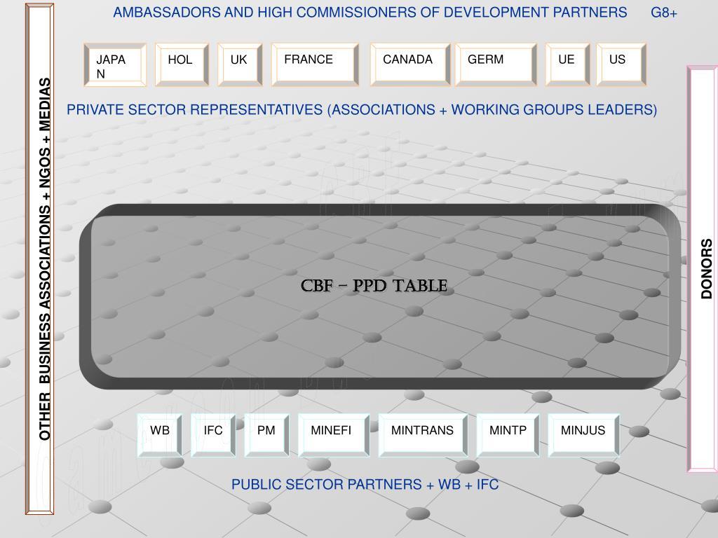AMBASSADORS AND HIGH COMMISSIONERS OF DEVELOPMENT PARTNERS      G8+
