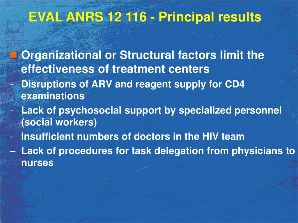 Organizational or Structural factors limit the effectiveness of treatment centers