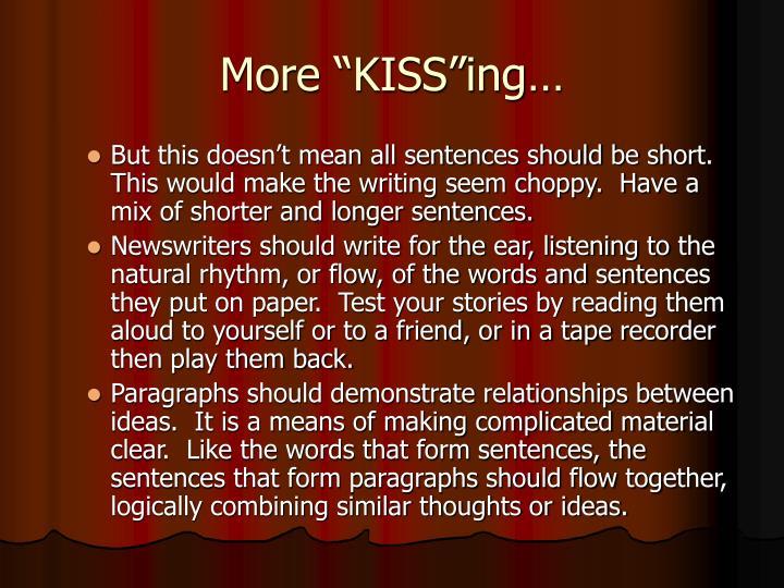 """More """"KISS""""ing…"""