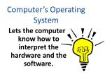 computer s operating system