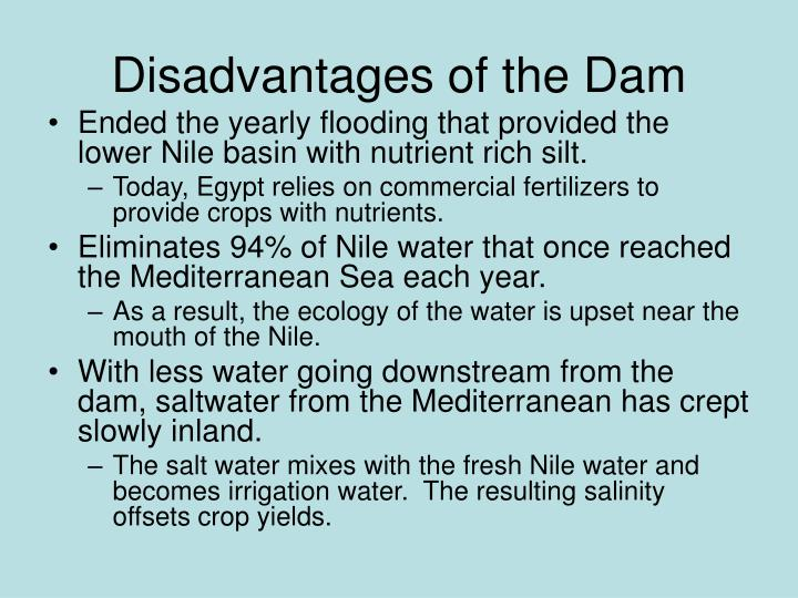 Disadvantages of the Dam