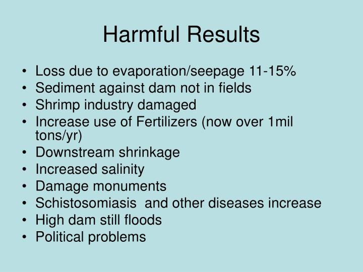 Harmful Results