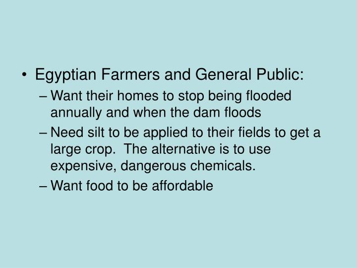 Egyptian Farmers and General Public: