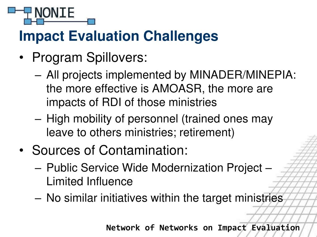 Impact Evaluation Challenges