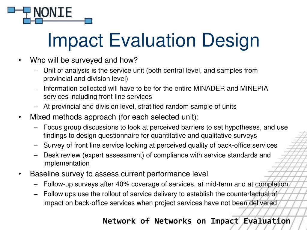 Impact Evaluation Design