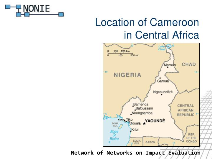 Location of cameroon in central africa