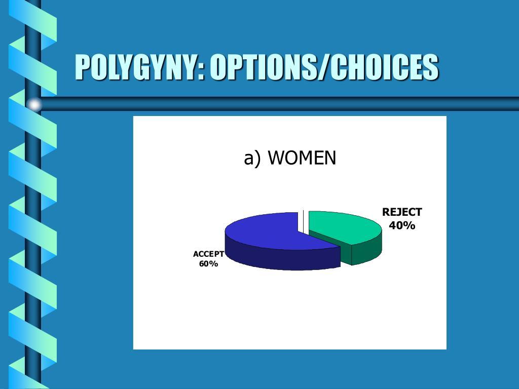 POLYGYNY: OPTIONS/CHOICES