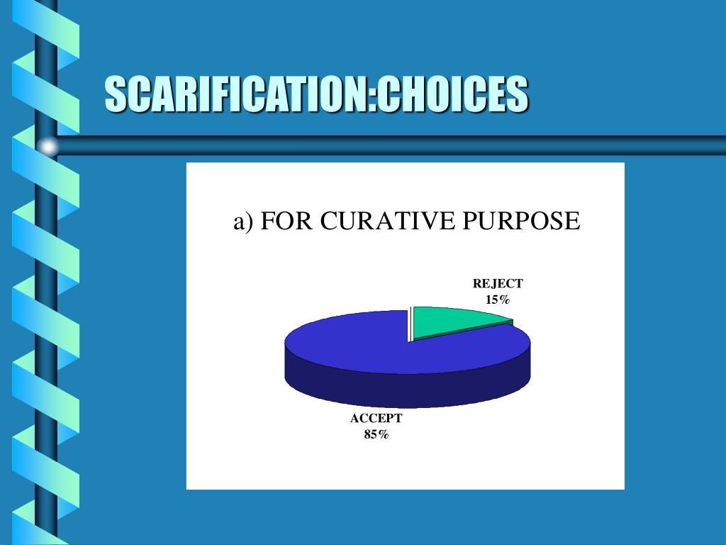 SCARIFICATION:CHOICES