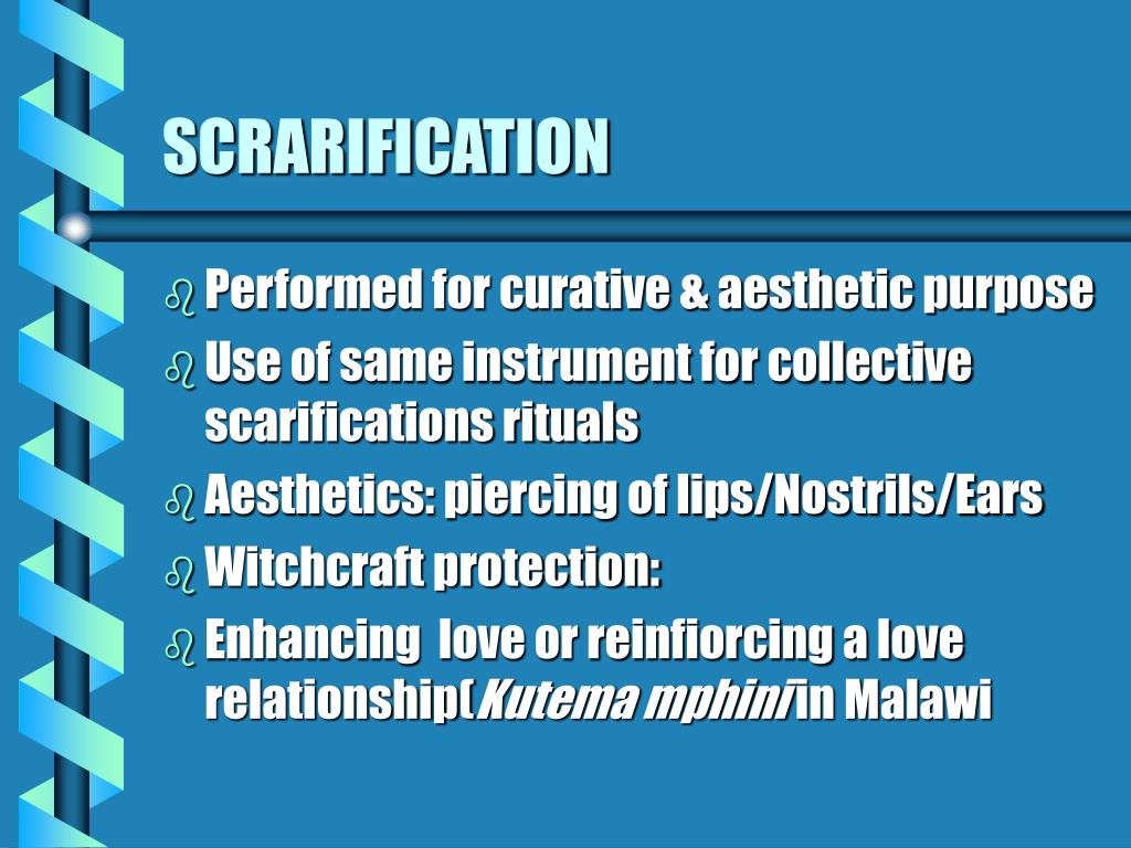 SCRARIFICATION