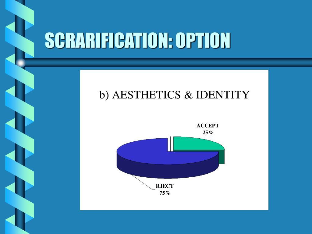 SCRARIFICATION: OPTION